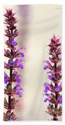 Caradonna Salvia Flowers Bath Towel