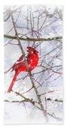 Cardinal Christmas-2014 Bath Towel