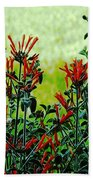 Cardinal Flowers Bath Towel