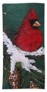 Cardinals In The Snow Bath Towel