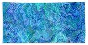 Caribbean Blue Abstract Bath Towel