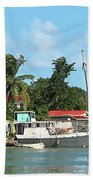 Caribbean - Docked Boats At Antigua Bath Towel