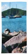 Caribbean - Rocky Shore St. Thomas Bath Towel