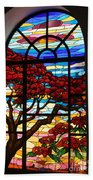 Caribbean Stained Glass  Bath Towel