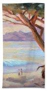 Carmel Beach Winter Sunset Bath Towel