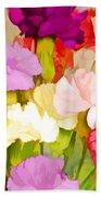 Carnation Bouquet Bath Towel