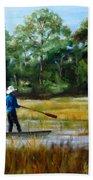 Carolina Cove Bath Sheet by Diane Kraudelt