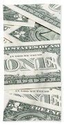 Carpet Of One Dollar Bills Bath Towel