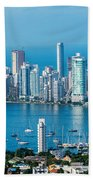 Cartagena Skyscapers Bath Towel