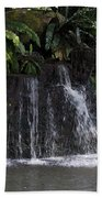 Cartoon - A Waterfall As Part Of An Exhibit Inside The Jurong Bird Park Bath Towel