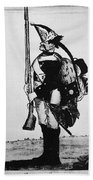 Cartoon: Hessian Soldier Bath Towel