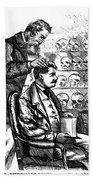 Cartoon: Phrenology, 1865 Bath Towel