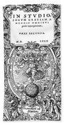 Cartouches, 1572 Bath Towel