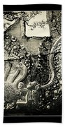 Carved Naga At Banteay Srey Bath Towel