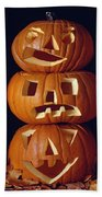 Carved Pumpkins  Bath Towel