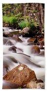 Cascading Rocky Mountain Forest Creek Bath Towel