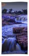 Cascading Waterfalls At Sunset Bath Towel