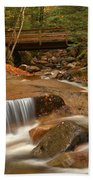 Cascades Below Flume Gorge Bath Towel
