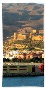 Castle In Almeria Spain Bath Towel