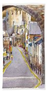 Castle Street Conwy North Wales Bath Towel