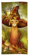 Cat In Fancy Witch Hat 3 Bath Towel