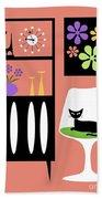 Cat In Pink Room Hand Towel