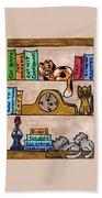 Cat Shelves Bath Towel