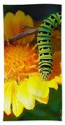 Caterpillar On The Prowl Bath Towel