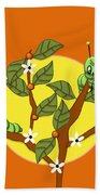 Caterpillars In The Orange Tree Bath Towel