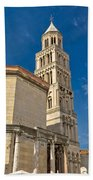 Cathedral Of Split Diocletian Palace Bath Towel