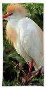 Cattle Egret Bath Towel