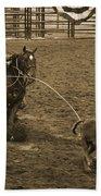 Cattle Roping In Colorado Bath Towel