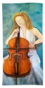 Cello Player Bath Towel
