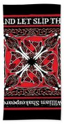 Celtic Dogs Of War Hand Towel