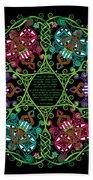 Celtic Fairy Mandala Bath Towel