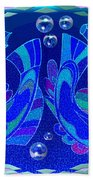 Celtic Fish On Blue And Lavender Bath Towel
