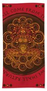 Celtic Pagan Fertility Goddess In Red Hand Towel
