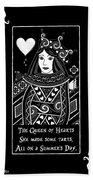 Celtic Queen Of Hearts Part I In Black And White Bath Towel