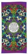 Celtic Spring Fairy Mandala Hand Towel