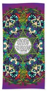 Celtic Spring Fairy Mandala Bath Towel