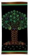 Celtic Tree Of Life Bath Towel