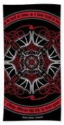 Celtic Vampire Bat Mandala Bath Towel