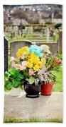 Cemetery Flowers Bath Towel