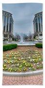Center Fountain Piece In Piedmont Plaza Charlotte Nc Bath Towel