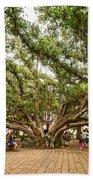 Central Court - Banyan Tree Park In Maui. Bath Towel