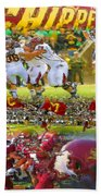 Central Michigan Football Collage Bath Towel