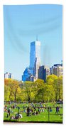 Central Park Panoramic View Bath Towel