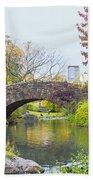 Central Park Gapstow Bridge Autumn II Bath Towel