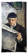 Cezanne's Father Reading Le Evenement Bath Towel