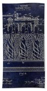Champagne Bottle Freezer Patent 1902 Blue Bath Towel